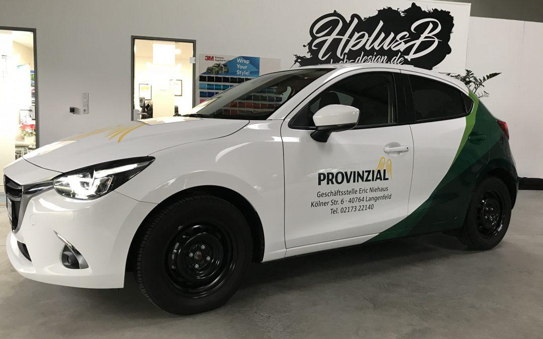 Fahrzeugbeschriftung für die Provinzial