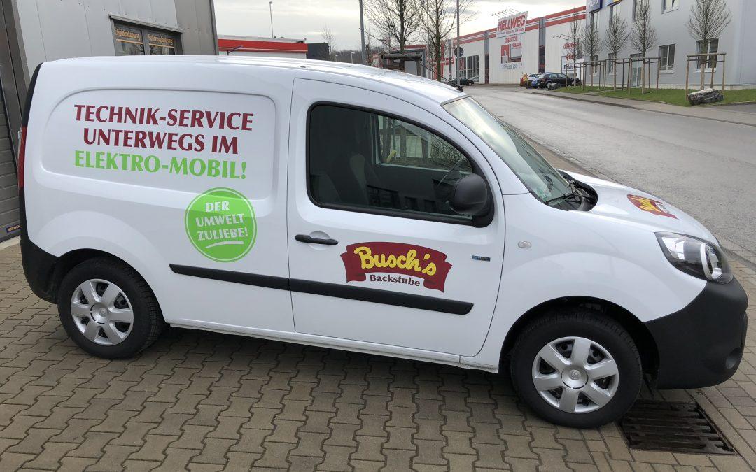 Fahrzeugbeschriftung Backstube Busch