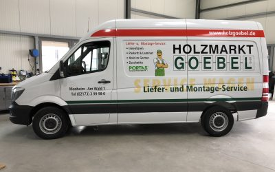Fahrzeugbeschriftung Holzmarkt GOEBEL