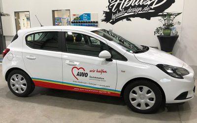 Fahrzeugbeschriftung AWO