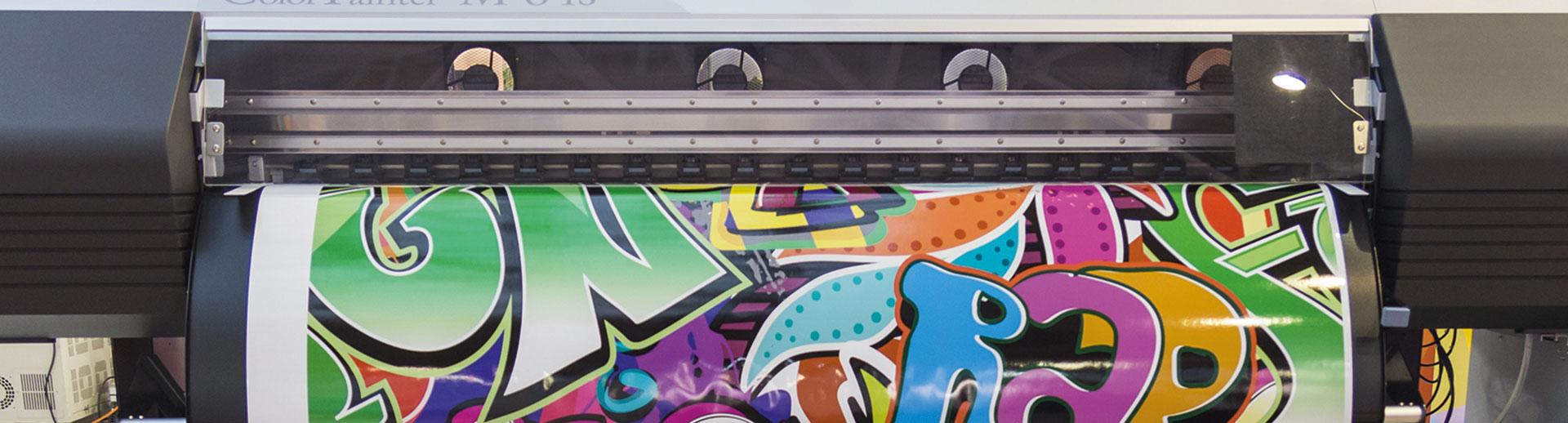 Ausdruck von Großformatdrucker von HplusB Design