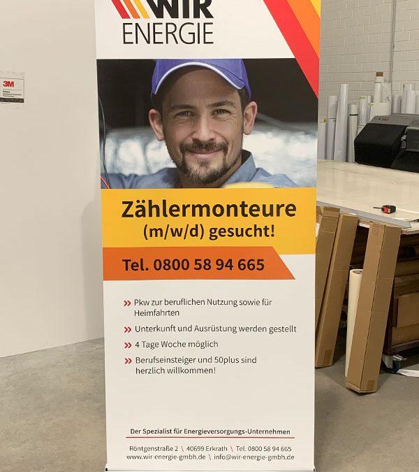 Werbetechnik und Autofolierung für die WIR Energie