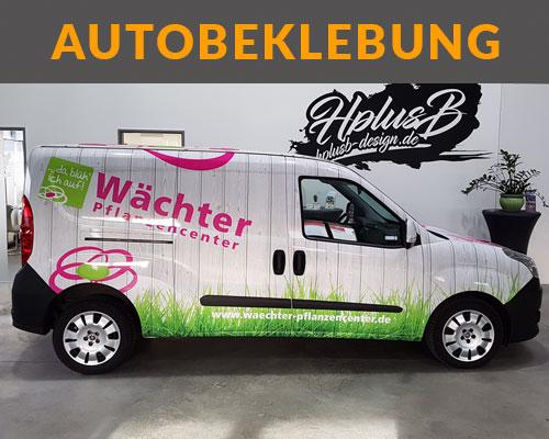 Autobeklebung Sprinter von Pflanzencenter Wächter in weiß und pink