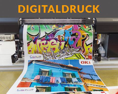 Bunter Digitaldruck aus Großformatdrucker von HplusB Design in Monheim, Düsseldorf, Köln