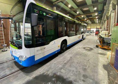 Busbeklebung Vollfolierung Kunstprojekt Forest Bus