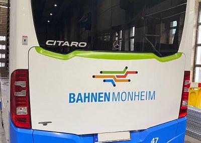 Linienbus der Stadt Monheim ohne Folierung