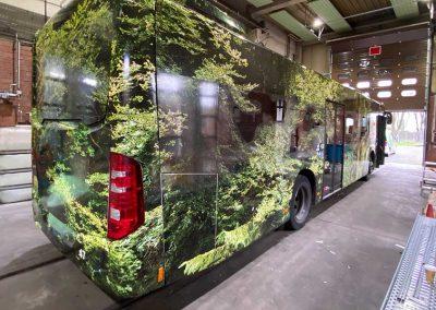 Vollfolierung Linienbus der Stadt Monheim