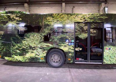 Seitenansicht Linienbus vollfoliert