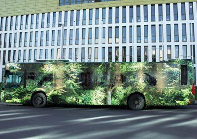 HplusB Design Forest Bus Vollfolierung der Stadt Monheim 2020