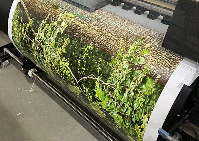 Digitaldruck Autofolie mit Wald-Motiv