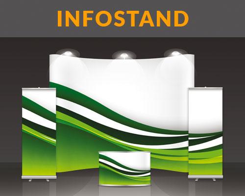 Infostand von HplusB Design im Digitaldruck erstellt