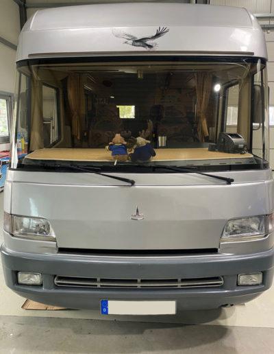 Ducato Wohnmobil nach der Vollfolierung vorne